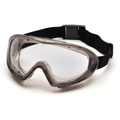 Pyramex CAPSTONE Dual Lens Goggle (Indirect Vented)