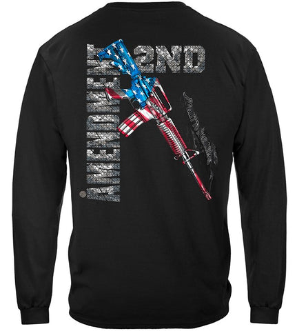 Second Amendment Flag Long Sleeves, AR15 (JB93)