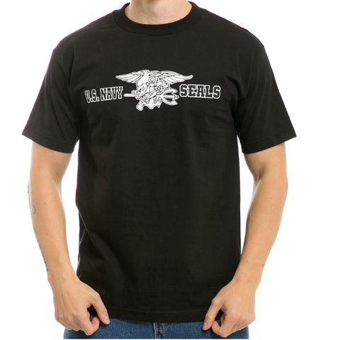 US Navy Seal logo graphic T-shirt (back)
