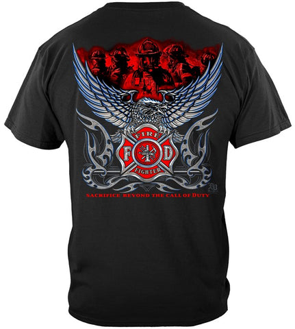 Firefighter Series T-shirt, Elite Breed Chrome Eagle (JB97)