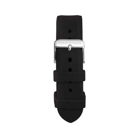 MARATHON 20mm Two-Piece Rubber Dive Watch Strap - Stainless Steel Hardware