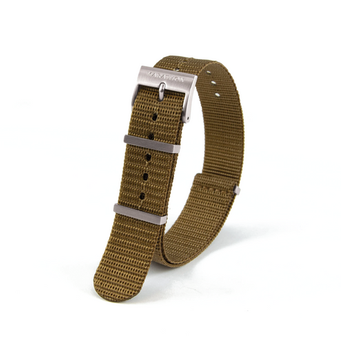 MARATHON Nylon NATO Watch Band/Strap with Stainless Steel Square Buckle