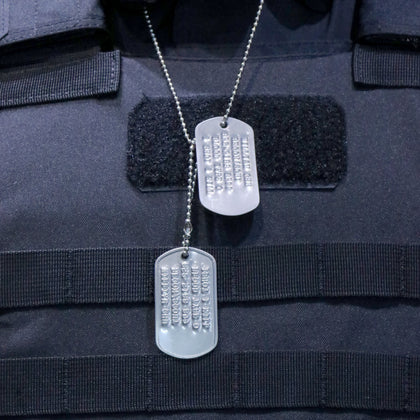 [ 度身訂造 ] 軍規軍人身份確認牌 (狗牌/軍牌) [ Tailor-made] MILITARY IDENTIFICATION SET (Mil-spec Embossed Stainless Steel)