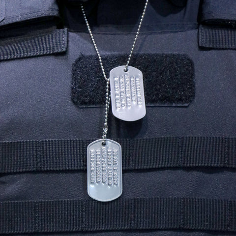 [ Custom-made] Military Identificartion Set (Mil-spec Embossed Stainless Steel)