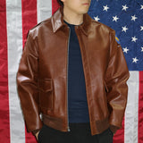 A-2 Type U.S. Air Force WWII Flight Leather Jacket  - Eastman® Havana Brown Horsehide 'Slender'
