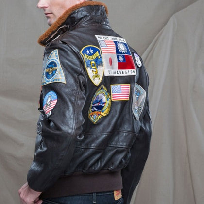 Top Gun Navy G-1 Leather Flight Jacket - Tanned Goatskin