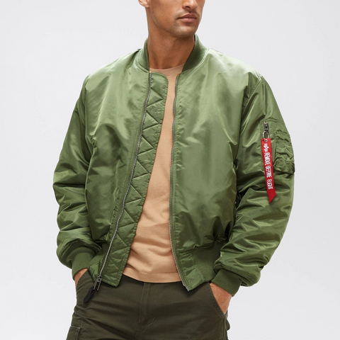 ALPHA MA-1 BLOOD CHIT FLIGHT JACKET (SAGE)