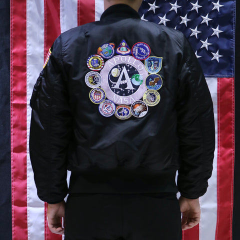 APOLLO MA-1 FLIGHT JACKET (BLACK)