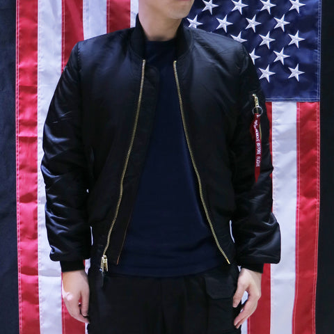 ALPHA MA-1 FLIGHT JACKET SLIM FIT (BLACK)