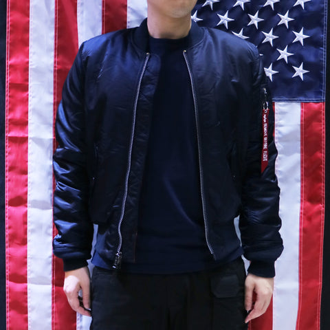 ALPHA MA-1 飛行外套修身版 (深藍色) ALPHA MA-1 FLIGHT JACKET SLIM FIT (REPLICA BLUE)