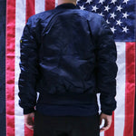 ALPHA MA-1 FLIGHT JACKET SLIM FIT (REPLICA BLUE)