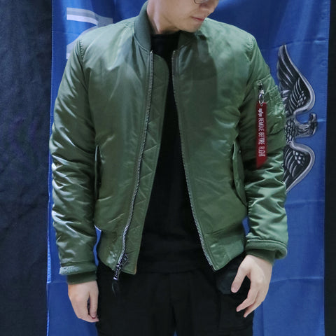 ALPHA MA-1 FLIGHT JACKET SLIM FIT (SAGE)