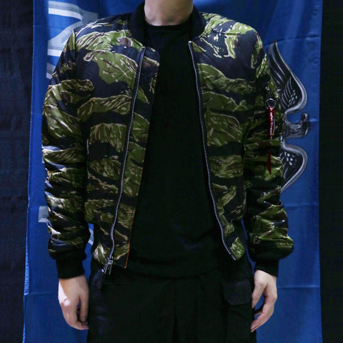 ALPHA MA-1 飛行外套修身版 (虎紋迷彩) ALPHA MA-1 FLIGHT JACKET SLIM FIT (TIGER CAMO)