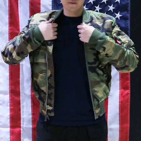 ALPHA MA-1 飛行外套修身版 (迷彩) ALPHA MA-1 FLIGHT JACKET SLIM FIT (WOODLAND CAMO)