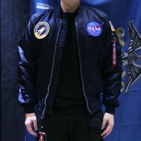 NASA MA-1 飛行外套 (深藍色) NASA MA-1 FLIGHT JACKET (REPLICA BLUE)