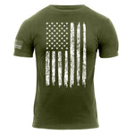 Distressed USA Flag T-shirt (ROT05)