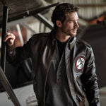 A-2 Leather Flight Jacket, Tokyo Raider - Seal Brown Horsehide
