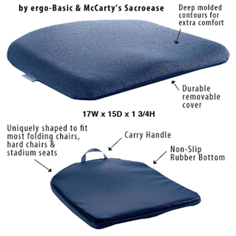 Ergonomic Seat Support - McCarty's Ergo Contour Cush Seat Cushion