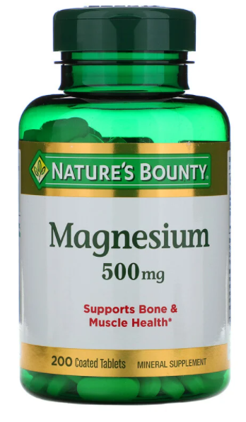 Nature`s Bounty Magnesium 500mg Tablets 100 ct