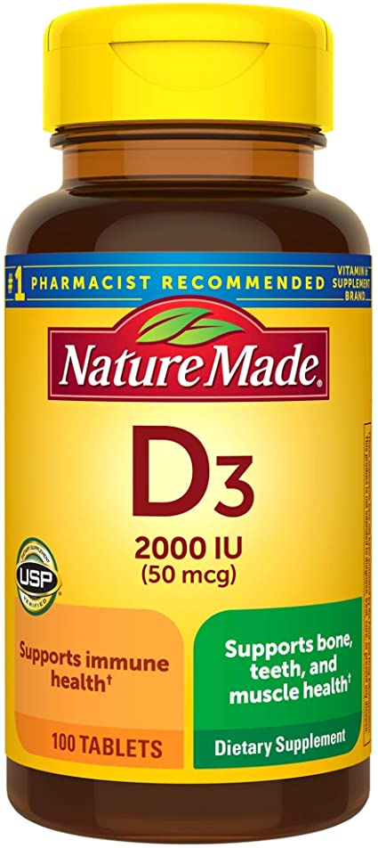 NATURE MADE VITAMIN D3 2000U #100 TABLETS