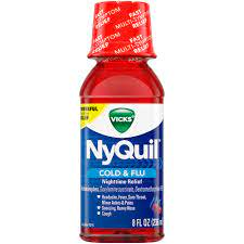 VICKS NYQUIL NIGHTTIME COLD & FLU MEDICINE 8 FL OZ CHERRY