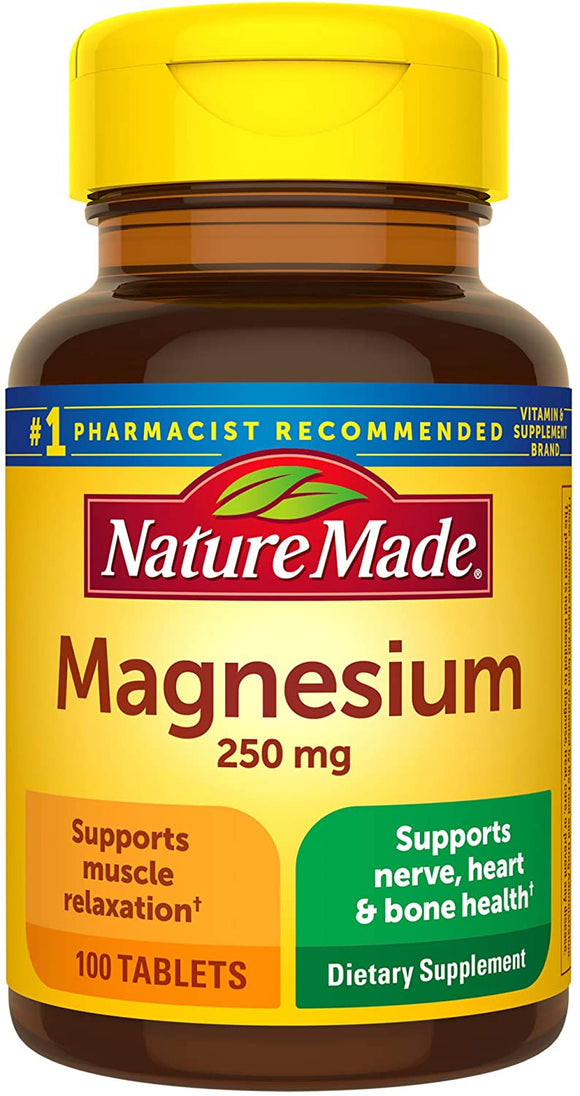 NATURE MADE MAGNESIUM OXIDE 250MG #100 TABLETS