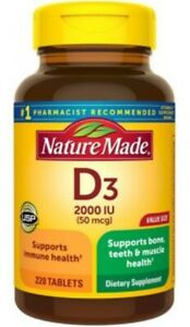 NATURE MADE VITAMIN D3 2000U #220 TABLETS