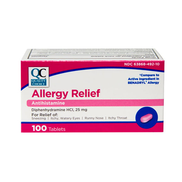 ALLERGY RELIEF CAP 100EA (BENADRYL)