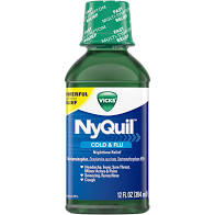 VICKS NYQUIL NIGHTTIME COLD/FLU MEDICINE 12 FL OZ