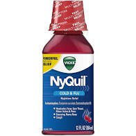 VICKS NYQUIL NIGHTTIME COUGH MEDICINE 12 FL OZ CHERRY