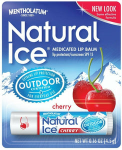 NATURAL ICE LIPBALM STICK  SPF15  1-7.5%  4.5GM    CHERRY