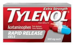 Tylenol Extra Strength 500mg Rapid Release Gels 100 ct