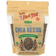 BOBS RED MILL: ORGANIC WHOLE CHIA SEEDS 12OZ