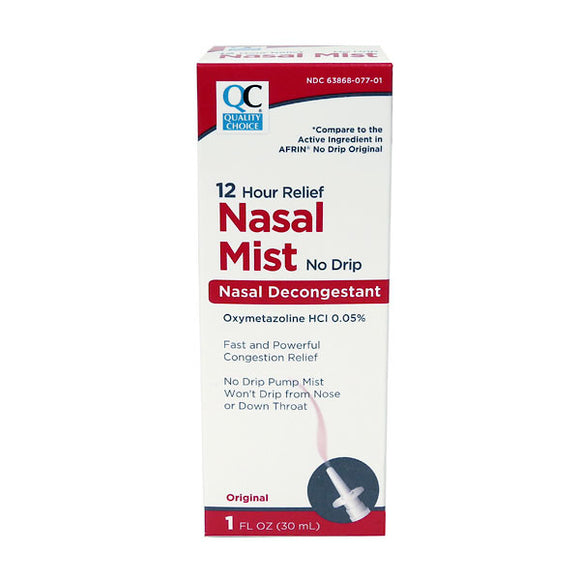 NASAL MIST NO DRIP 12 HOUR DECONGESTANT SPRAY