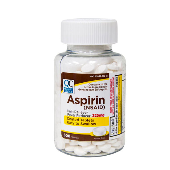 ASPIRIN 325MG COATED TABLETS 300CT (BAYER)