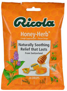 RICOLA C/DR LZ 24CT HONEY HERB BAG