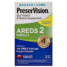 PRESERVISION AREDS 2 FORMULA EYE VITAMIN & MINERAL SUPPLEMENT SOFTGEL #120