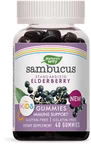NATURE'S WAY SAMBUCUS ELDERBERRY KIDS GUMMY 40CT