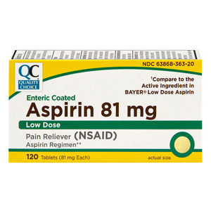 Aspirin 81 Mg Enteric Coated Low Dose Tablets