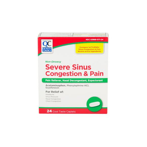 SEVERE SINUS CONGESTION & PAIN COOL TASTE CAPLETS