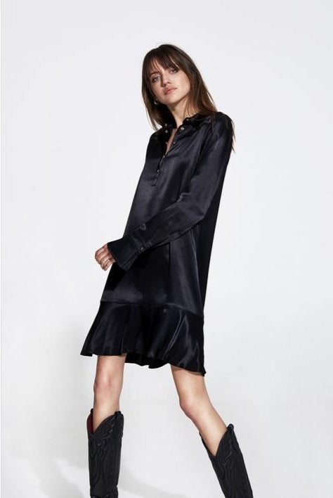 ALIX satin dress - black