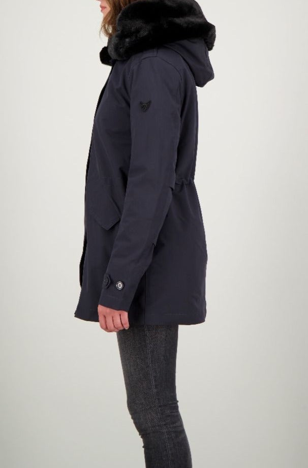 AF Short Teddy parka - dark navy blue