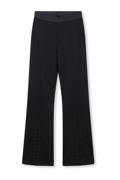 ALIX split flaired pants - black