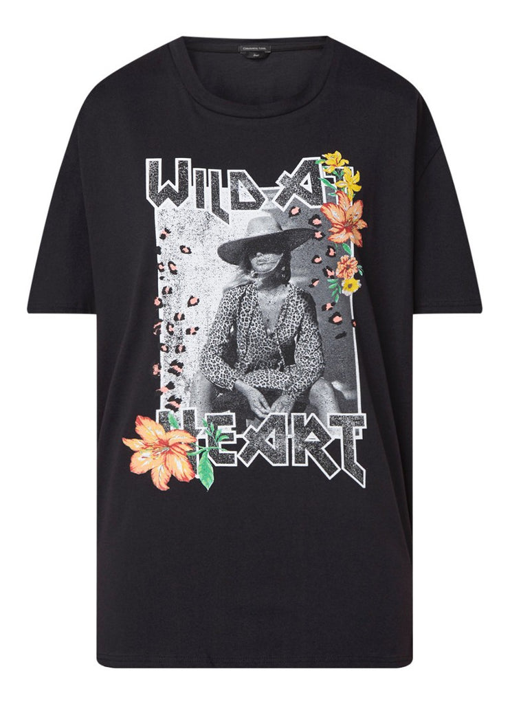 CR Wild at Heart tee - black