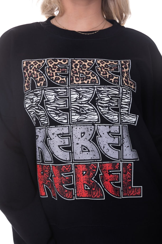 CR Rebel Rebel Rebel dropped shoulder sweater