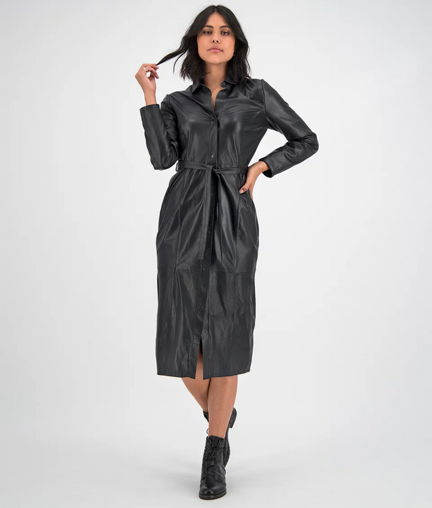 GC Spencer leather dress - black
