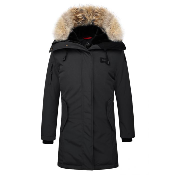 Helvetica Expedition parka - black