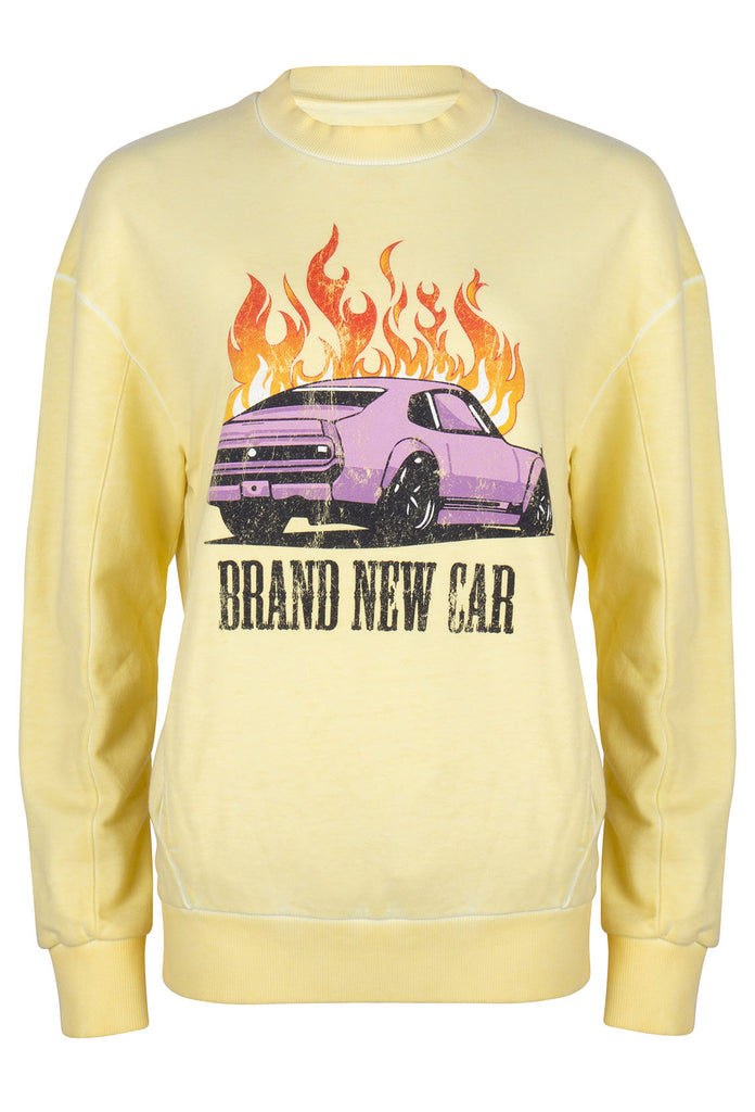 Brand new sweater - pale banana