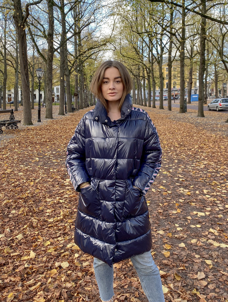 Puffer jacket taped - blue