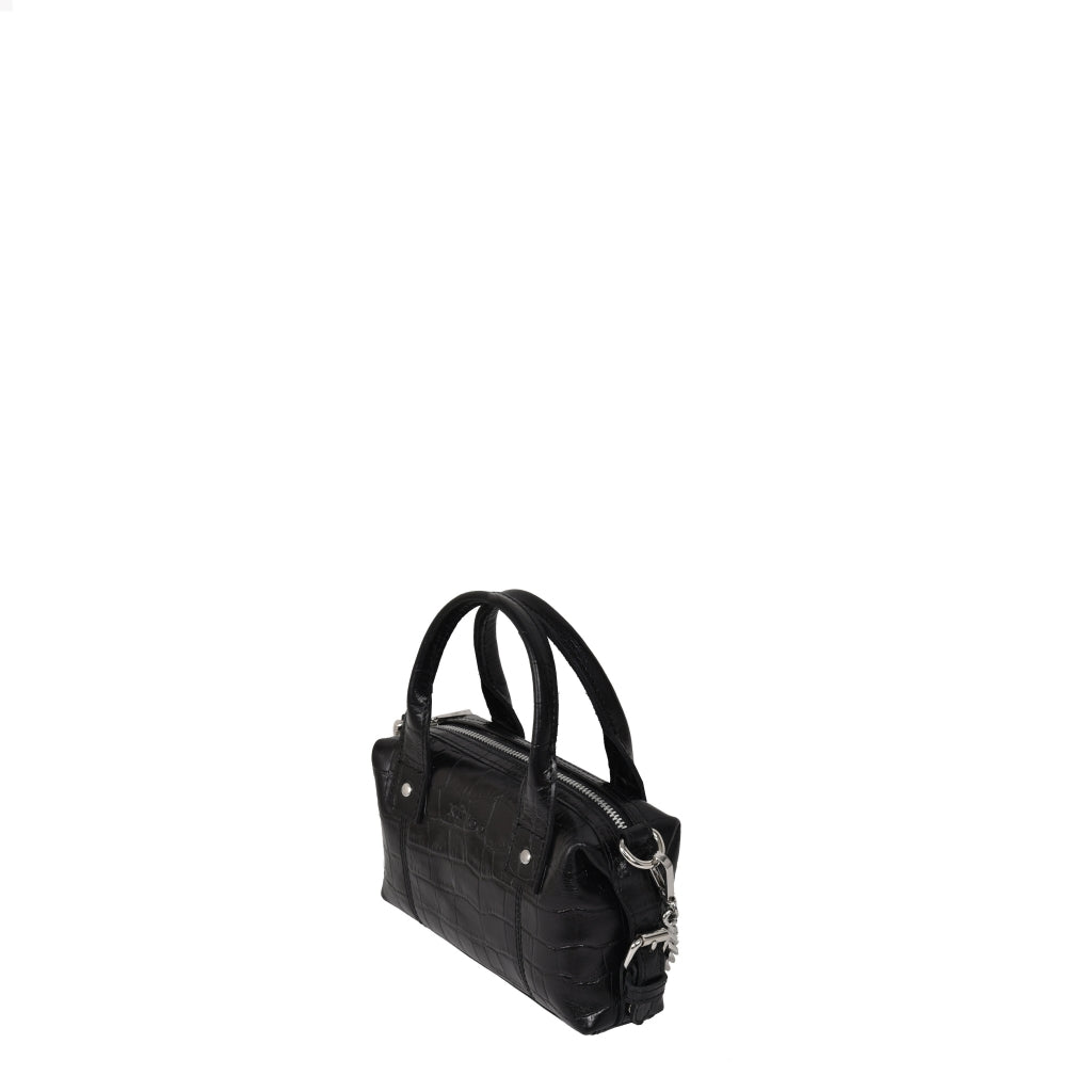 Nunoo Mini Bobby Croco - black